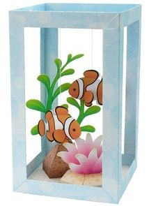 diy papercraft aquarium from petprojectblog.com