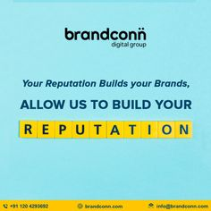 Maintain your online reputation with Brandconn Digital. This online reputation management company India provides the best services in reputation management and promote your positive customer's review to suppress negative and irrelevant feedback. Reputation Management, Management Company, Drive Online, India Online, Build Your Brand, Positivity, Digital, Optimism