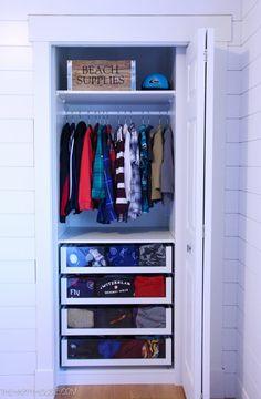 Small Reach-in Closet Makeover with Ikea PAX - Garderobe Ikea Closet Hack, Ikea Closet Organizer, Ikea Pax Wardrobe, Closet Hacks, Small Closet Organization, Wardrobe Closet, Closet Bedroom, Short Wardrobe, Wardrobe Planner