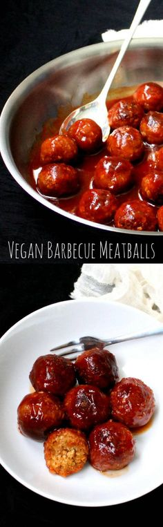 Vegan Barbecue Meatballs - holycowvegan.net