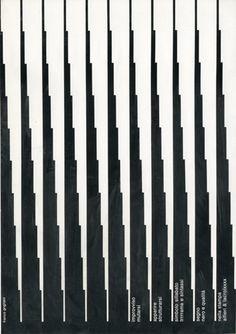 """Pagina pubblicitaria - Alfieri & Lacroix  """"Improvviso mutarsi, apparire strutturarsi, simbolo sillabato, trrrrama e sintassi, segno nero e qualità nella stampa alfieri & lacroixxxx"""".  Progetto grafico e testi di Franco Grignani, 1968"""