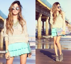 Displicent Skirt, Antix Jumper, Gabriela Faraco Necklace, Romwe Sunglasses
