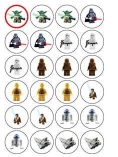 lego star wars free printable labels - Google Search