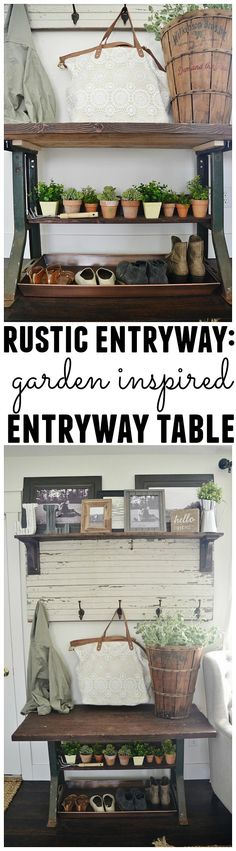 New entryway table -