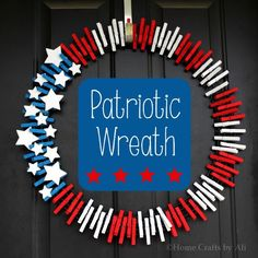 With Memorial Day coming up, this DIY Patriotic Wreath is a great way to show your spirit!