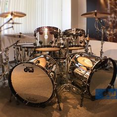 Chrome kit in Showroom. #dwdrums #thedrummerschoice: