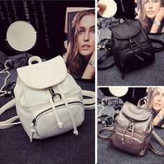 Women s Cute Small Mini Faux Leather Backpack Rucksack Casual Purse Gift fa6d11323d8b5