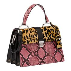 Miu Miu - Top Handle Bags - Honey/Dark Brown + Pink - United States - 5BA108_2EZE_F0LY0_V_OOC