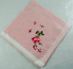 Hey, I found this really awesome Etsy listing at https://www.etsy.com/listing/226620158/vintage-handkerchief-pink-with