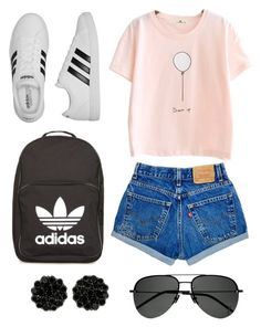 """""""Untitled #21"""" by sarahperri on Polyvore featuring adidas and Yves Saint Laurent"""