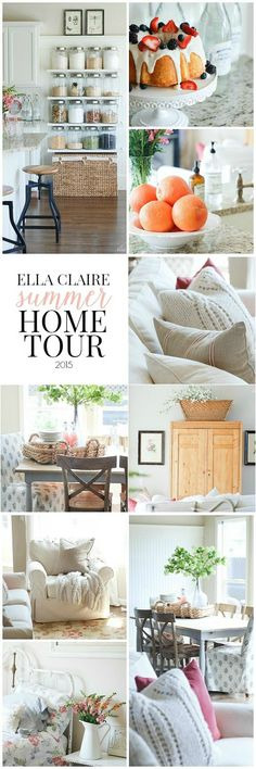 Ella Claire Summer Home Tour~ Bright and happy with lots of vintage charm