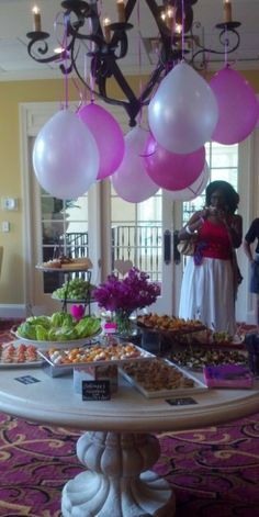 Coordinated and Cute Bridal Shower