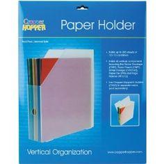 Advantus Cropper Hopper Vertical Paper Holder, Frost, 12-Inch-by-12-Inch $12.11