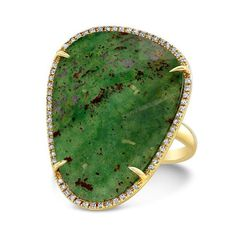 14KT Yellow Gold Blood Stone Diamond Organic Shape Ring   Color 14KT Yellow Gold   Stone Weight 17.3   Primary Stone Blood Stone   Approx. Carat Weight .200   sku ASR7360-B ------ About the designer:  Born in Paris, to Danish diplomat parents, designer Anne Sisteron began her love for timeless jewelry from an early age. Despite her natural talent and eye for distinction, her years working as a model for ELITE exposed her to the visions of designers around the world, further influencing her…