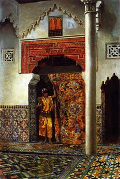 Cave to Canvas, Edwin Lord Weeks, A Moorish Interior, 1877 @@@@......http://www.pinterest.com/nikitaidou/art-orientalism/