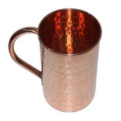 Drinkware Accessories Hammered Copper Moscow Mule Mug 16 Oz Brown Set Of 4 #VisvabhavanahMart