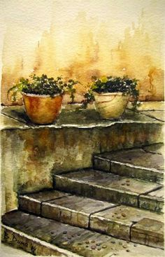 Stairs, painted by Berrin Duma