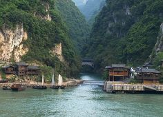 Yangtze River  The Yangtze River is the largest in china, having length 3,964 miles and it is the 3rd largest river in the world after the Nail and Amazon. The Yangtze River is the largest water system in China. China has 3gorges dam project on this river. It is the greatest project and hydroelectric station in the world.