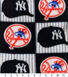 New York Yankees MLB Block Fleece Fabric by CraftsbyRuthanne on Etsy
