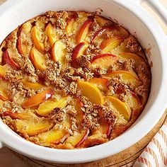 Peach Breakfast Gratin