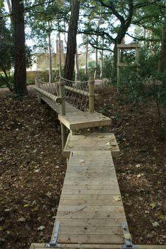 Rope Bridges and Log Rope Bridges by Treehouse Life