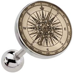 FreshTrends Vintage Compass Surgical Steel Cartilage Earring   FreshTrends Body Jewelry