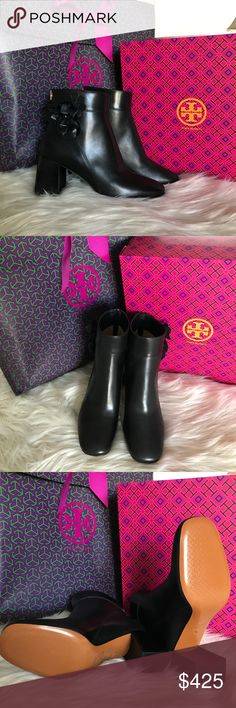 ad2d2f3cd New Tory Burch 70mm Blossom Bootie Never worn. Contains all original  packaging including gift bag