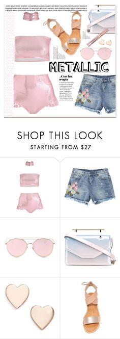 """""""swimwear metallic"""" by licethfashion ❤ liked on Polyvore featuring LMNT, M2Malletier, L'Oréal Paris, Poppy Finch and Dolce Vita"""