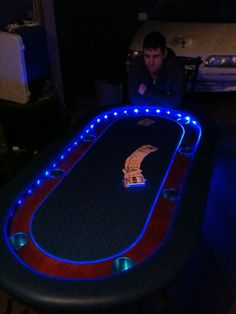 OFFICIAL Poker Table Picture Thread - Page 11 - The Perfect Man Cave Perfect Man, Poker Table, Man Cave, The Man, Things To Come, Camera Phone, Basement, Tables, Pictures