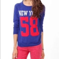 ❣SALE❣ New Forever 21 New York sweater Blue New York sweater. Size S. Brand new with tags Forever 21 Sweaters