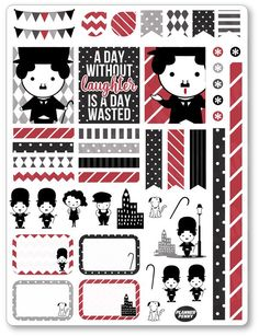 Now available in our store: Chaplin Decoratin.... Check it out at http://www.plannerpenny.com/products/chaplin-decorating-kit-weekly-spread-planner-stickers