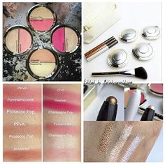 Introducing the split pans!!! Half blush | half highlight  Top - Prosecco Pop|Pamplemousse Left - Champagne Pop|Flowerchild Bottom - Prosecco Pop|Amaretto Right - Champagne Pop|Hyacinth  These will be on Sephora.com on July 5th for email sign up. It will be available for purchase online on July 14th and available in store later in the month for $38  #beccaxjaclynhill *this collection is #limitededition  Which one is your favorite? I love the champagne pop/ flower child  They are a... July 14th, Champagne Pop, Makeup To Buy, Which One Are You, Prosecco, Skin Makeup, Becca, Sephora, Highlight