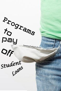 If you're one of the 40 million Americans with student loans, you may be looking for help. Here are the programs available to help pay off student loans. payoff debt tips, debt payoff tips #debt #debtfreedom