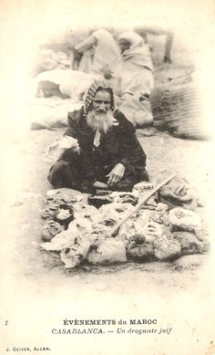 Maroc - Casablanca - droguiste juif