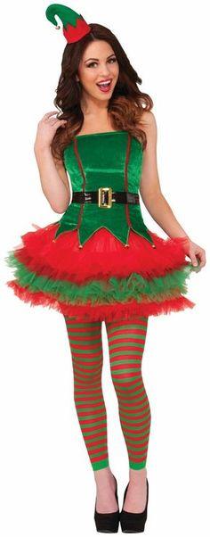 PartyBell.com - #SassyElf Adult Costume