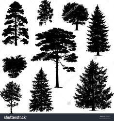 Ideas Pine Tree Silhouette Painting For 2019