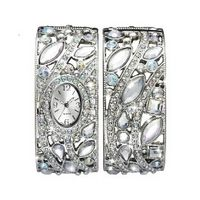 £26.00 Glitzy #Silver Tone #Watch & #Bangle Ste #fashion #accessories www.highstreetfashion.co