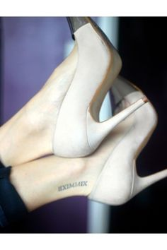 Tattoo Placement. Like I always say, everything looks better with pumps! PLACEMENT