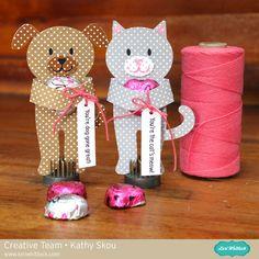 Lori Whitlock Cat & Dog Candy Hugger Valentines - Scrapbook.com