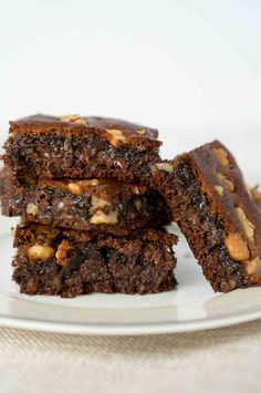 These chocolate Paleo almond butter brownies melt in your mouth and are absolutely delicious! Sweetened with raw honey, no refined sugar. Only 30 minutes.