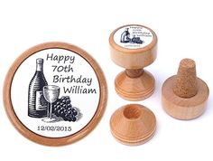 Personalized Wine stopper. 70th Birthday gift by WineStopperStore