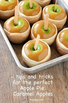 learn all the tips and trick for the perfect Apple Pie Caramel Apples | NoBiggie.net