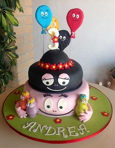Barbapapa ballon Barbamama Birthday cake taart. Meer Barbapapa spullen zijn te vinden op www.vanallesvan.nl (2nd birthday cake)