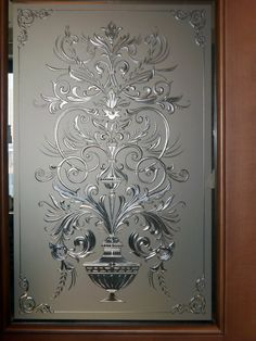 New Etched Glass Door Design Patterns Ideas Etched Glass Door, Frosted Glass Door, Stained Glass Door, Glass Doors, Glass Design, Door Design, Glass Etching Designs, Deco Cafe, Doors And Floors
