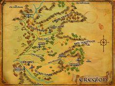 LOTRO map of Eregion