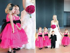 Cerise Pink and Black Weddings Hot Pink and Black Inspiration Wedding Ideas Pink and Black