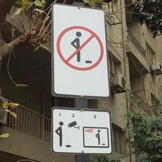 Youve been warned! #StreetSign seen in #Cairo #YouTube