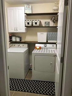Shelving and Cabinet - Laundry Room
