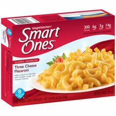 Weight Watchers Smart Ones Classic Favorites Three Cheese Macaroni, 9 oz Elbow macaroni blended with cheddar, asiago and romano cheeses 300 calories fat fiber protein Microwave Dinners, Microwave Recipes, Weight Watchers Smart Ones, Frozen Appetizers, Cheese Cultures, Asiago Cheese, Healthy Menu, 300 Calories, Cooking Instructions