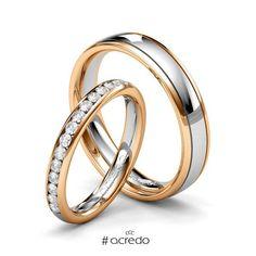 541747cd7125  alianzas de matrimonio oro blanco y oro rosa con diamantes. Opciones en oro  amarillo y oro rojo.  anillos  boda  matrimonio  diamantes  oro